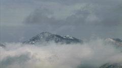 Mountain Peak Clouds-zoom Stock Footage
