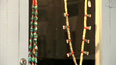 Native American Necklaces-zoom Stock Footage