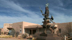 Native American Sculpture Stock Footage