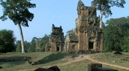 Stock Video Footage of Ruins Ancient Temple, Angkor Wat