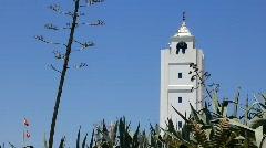 White tower in Sidi Bou Said, Tunisia Stock Footage