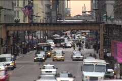 Chicago Street Time lapse with EL Stock Footage