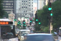 Chicago time lapse Traffic 2 - 2 speeds - stock footage