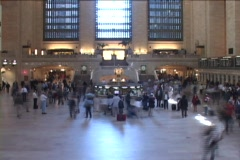 Grand Central Time lapse 1 - Main Terminal 1 - stock footage