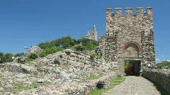 Tsarevets Fortress in Veliko Tarnovo, Bulgaria Stock Footage