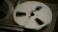 Stock Video Footage of Tape Recorder Reel