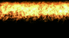 Gold fire wall background,war scene,dazzling hellfire. Stock Footage