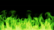 Stock Video Footage of Toxic green fire