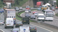 Stock Video Footage of UK traffic / cars / road - Traffic006