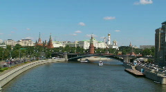 Moscow Kremlin and river Stock Footage