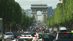 Champs Elysees - stock footage