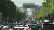 Champs Elysees Stock Footage
