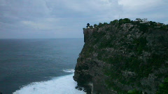 Uluwatu temple silhouette, Indonesia, Bali Stock Footage