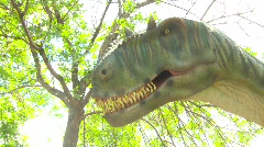 Dinosaur animatronic, #2 Stock Footage