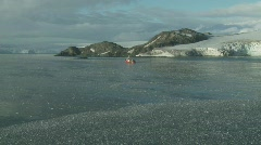 Ship in the middle of frozen sea Livingston Island 2 Stock Footage
