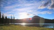 Stock Video Footage of Sunset Time Lapse - Trial Lake Utah