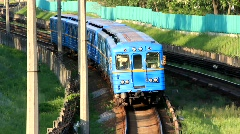 Blue train Stock Footage
