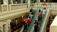 Escalator in shopping center Stock Footage