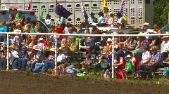 People, crowd at rural rodeo Stock Footage