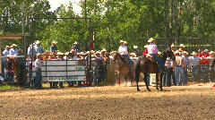 Rodeo, infield and cowboys, #1 Stock Footage