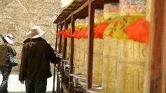 Stock video footage Buddhist prayer drums Stock Footage