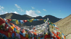 Stock Video Footage Tibet prayer flags 2 - stock footage