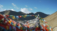 Stock Video Footage of Tibet prayer flags 2