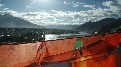 Stock Video Footage Tibet prayer flags 5 - stock footage