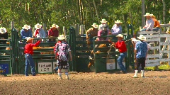 Rodeo, boys steer riding, bucked off, #1 Stock Footage