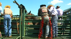 Rodeo, chutes and cowboys, #1 Stock Footage