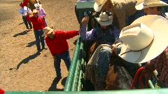 rodeo, bareback bronc, cowboy bucked off, #2 - stock footage