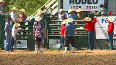 Rodeo, boys steer riding, bucked off, #2 Stock Footage
