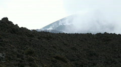 Mount Etna, volcano in Sicily, Italy Stock Footage