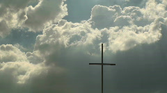 Cross Cloud Angels Time Lapse Stock Footage