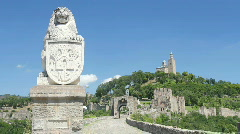 Lion Statue in Veliko Tarnovo, Bulgaria Stock Footage