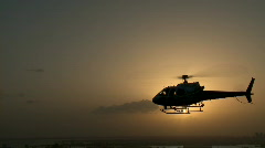 Aerial Helicopter Pursuit Roll Out Stock Footage