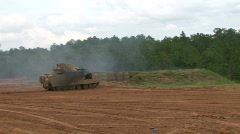 Tank Live Firing M2 Bradley Stock Footage