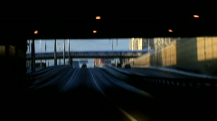 Driving out of tunnel - HD 1920 X 1080 - stock footage