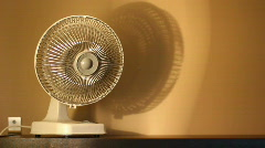 Oscillating Fan 1793 Stock Footage