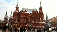 Red square and Kremlin on New Year's Day - HD 1920 X 1080 Stock Footage