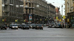 City traffic on downtown - HD 1920 X 1080 - stock footage