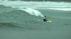 Canoeist - stock footage