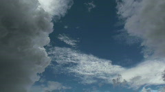 Time Lapse Cloud Formation Stock Footage