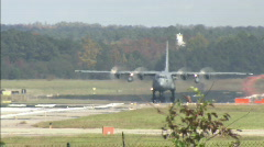 C-130 taking off - stock footage