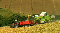 Wheat being Harvested, JVC GY-HM100E Stock Footage