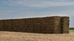Hay bales Stock Footage