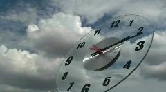 Time Lapse Clock Metaphor Stock Footage