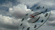 Stock Video Footage of Time Lapse Clock Metaphor
