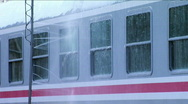 Train in the process of the washing and cleaning Stock Footage