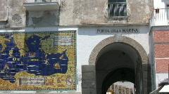 Italy - Amalfi - Porta della Marina - stock footage